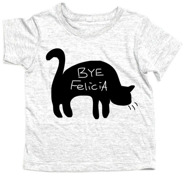 Hey... VFelicia Tee    Fun on a shirt. Our Hey tee waves bye!  Beautiful design printed on a white American Apparel shirt. Soft Sheer Jersey (100% Combed Cotton). Durable rib neckband. Not intended for sleepwear  All sizes are printed on a traditional-style tee. Infant tees are 100% cotton, while toddler/child size tees are printed on a soft, fine, summer-weight cotton/poly t-shirt.