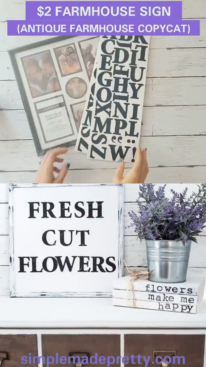 Dollar Tree Farmhouse Sign Dupe &; Antique Farmhouse Sign copycat Dollar Tree Farmhouse Sign Dupe &; Antique Farmhouse Sign copycat Simple Made Pretty SMPblog All Things Crafty | DIY +[…] #Antique #copycat #decoration for home diy dollar stores #Dollar #Dupe #farmhouse #Sign #Tree