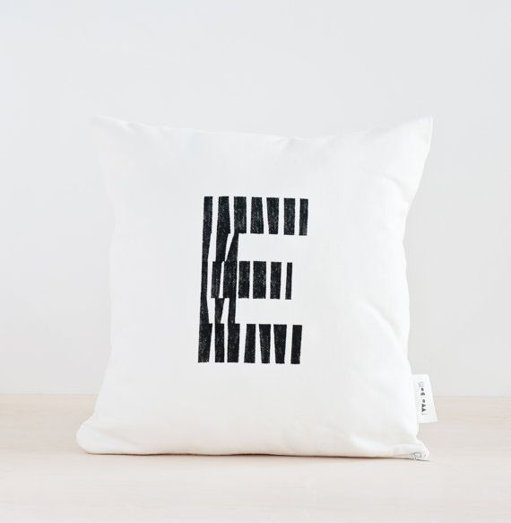 Initial Pillow Covers Initial Pillow Black And White Pillow Cover Personalized Pillow