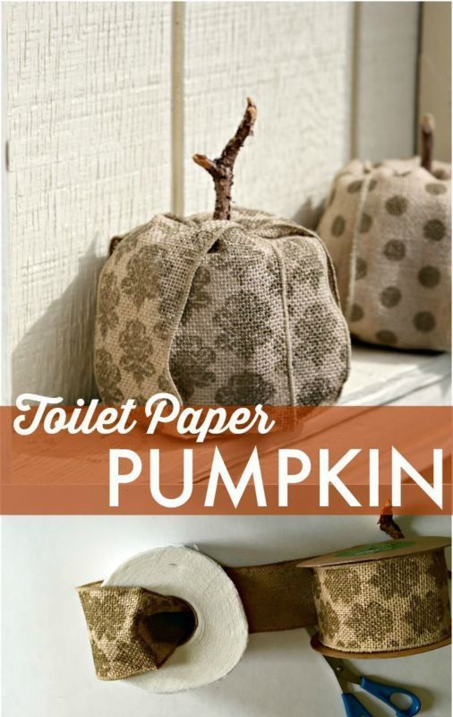 Make a Pumpkin… Out of Toilet Paper?