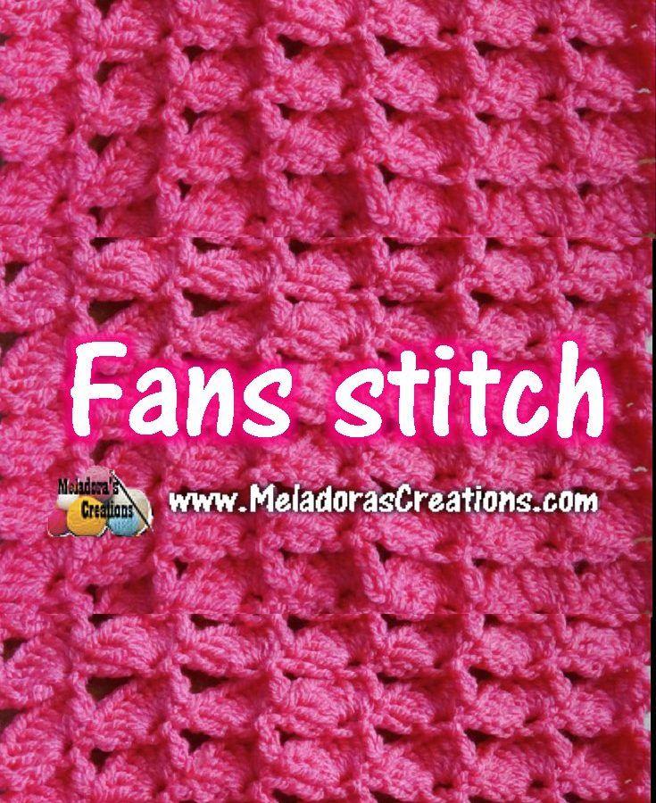 Meladoras Creations |   Fan Stitch – Crochet Stitch Tutorial