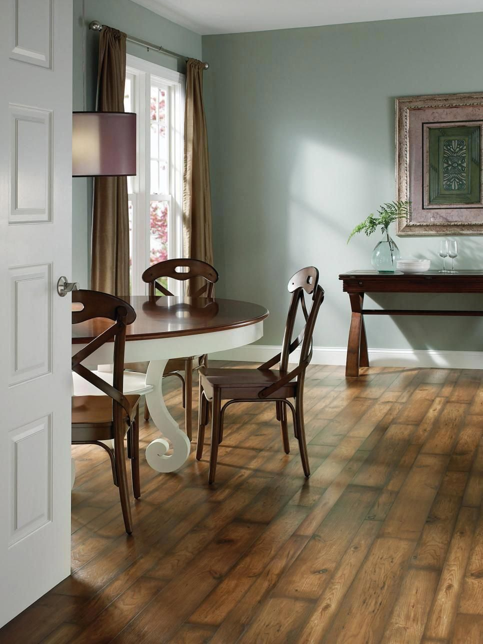 A lowcost option, vinyl floors provide a durable surface