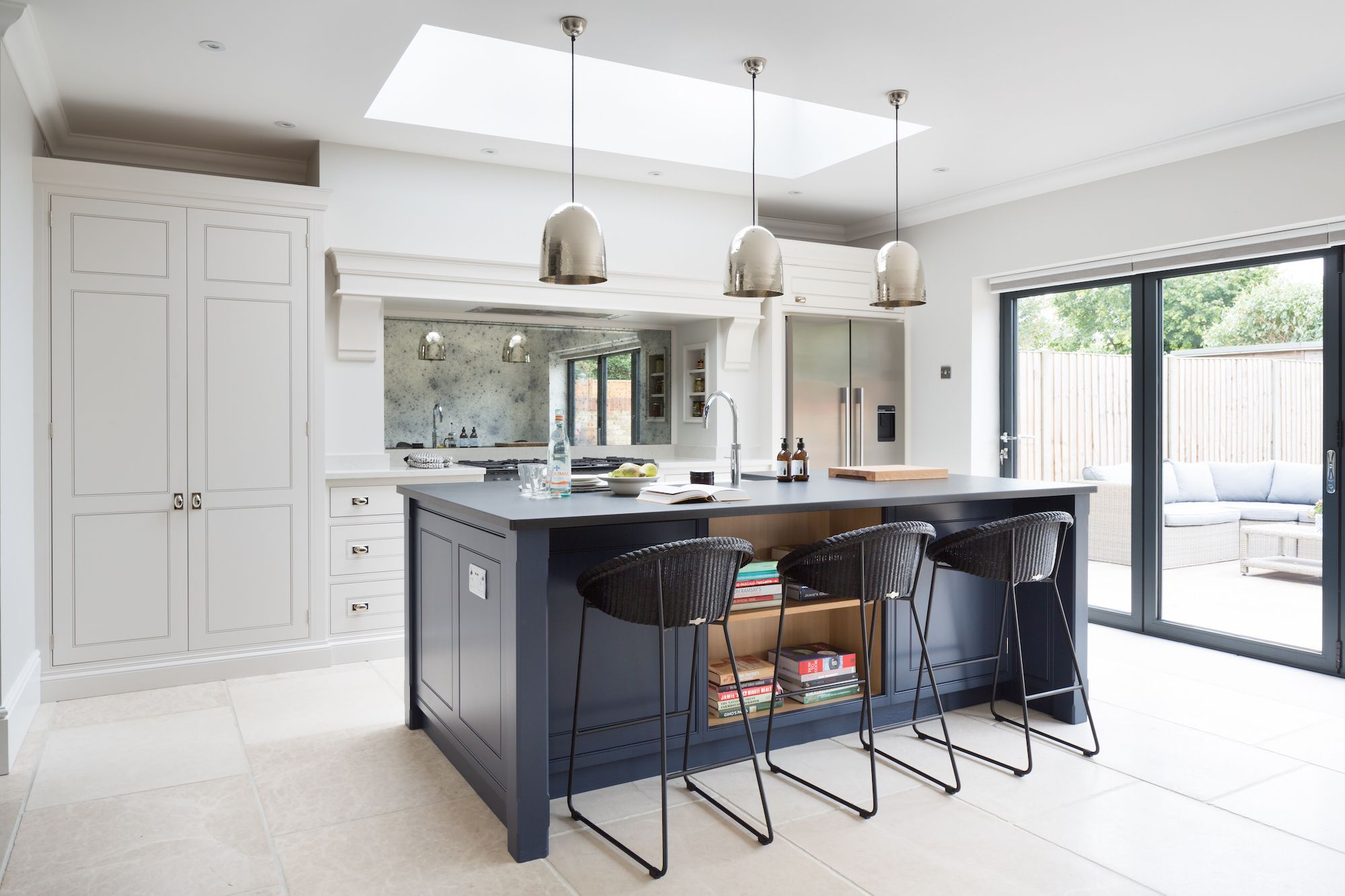 Dark Grey Modern Kitchen contemporary family kitchen, chelmford, essex - humphrey munson