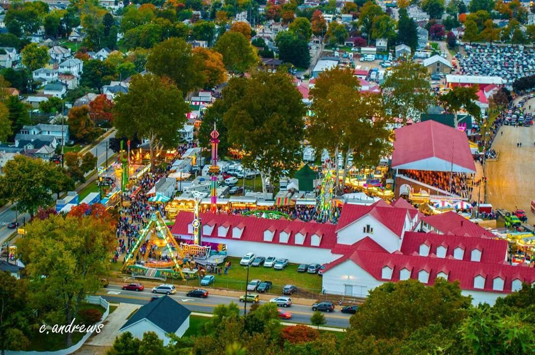 Fairfield county fairgrounds from mt pleasant fairfield