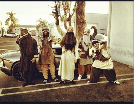 Chris Brown's halloween costume... Where are SEAL Team Six when we really, really need them?