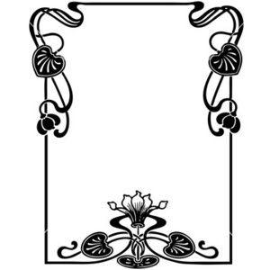 floral art nouveau frame vector polyvore clipart best clipart rh pinterest co uk art nouveau vector pattern art nouveau vector pattern
