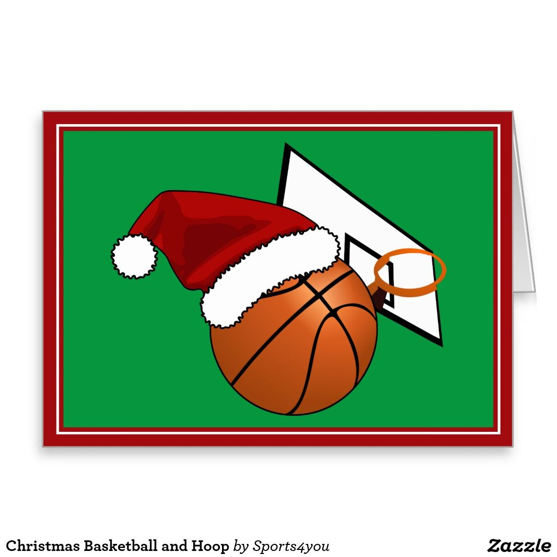 Christmas #Basketball and Hoop Greeting Card #Sports4you ...