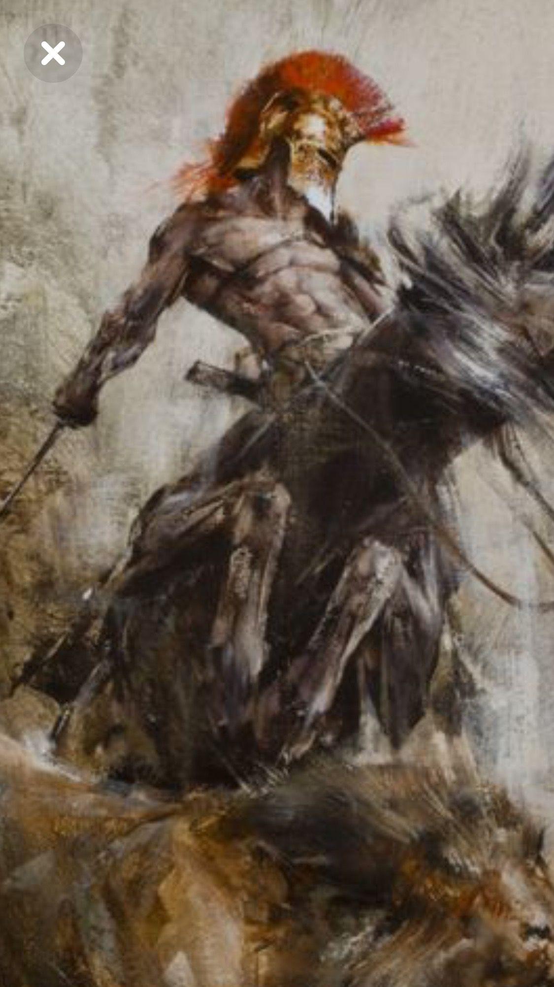 Greek Warrior Fantasy Art