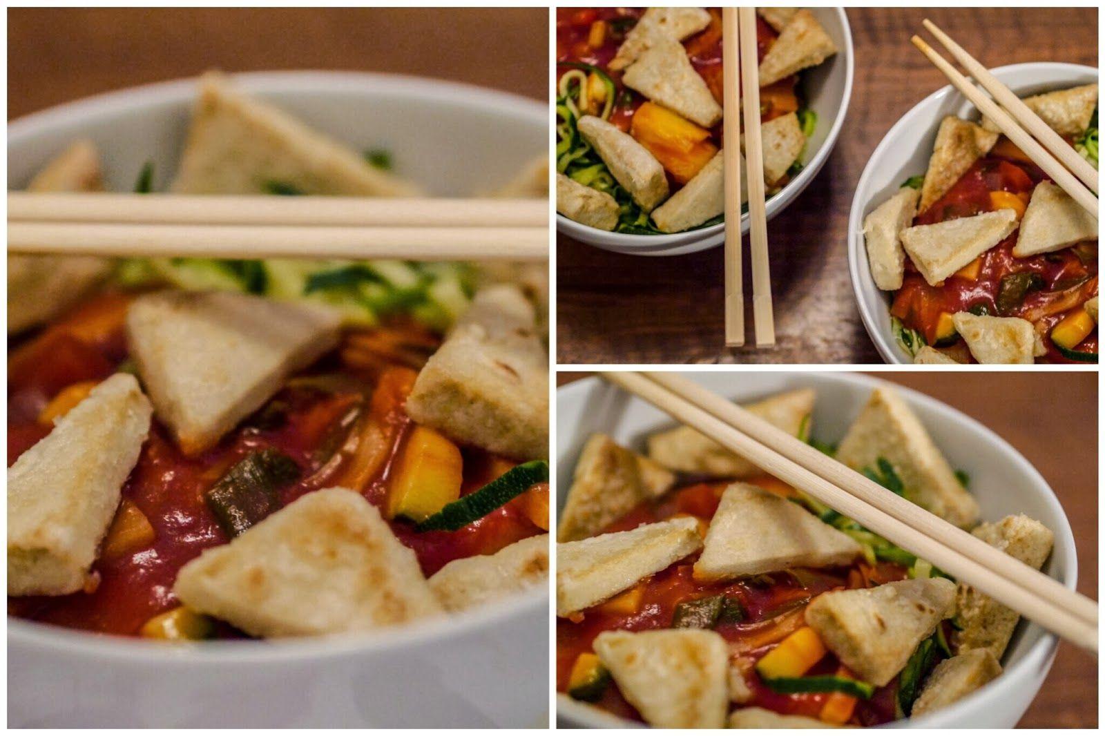 Für diesen Tofu süß-sauer gibts bei Simone das Rezept! Danke dafür, werd ich auf jeden Fall nachmachen!