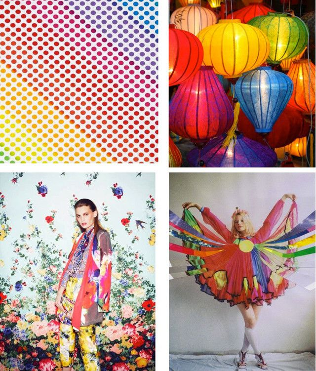 #DesignOptions color trend report on #WeConnectFashion, Women's SS17, Over The Rainbow mood board details