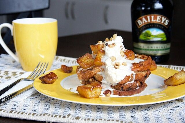 Cinnamon French Toast with Baileys Whipped Cream