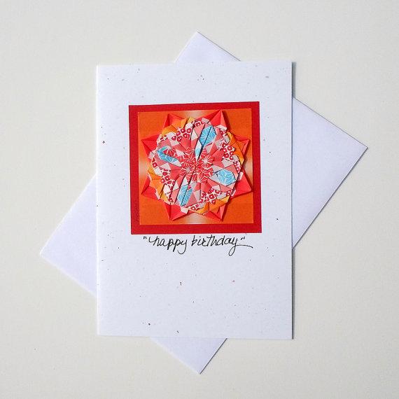 Happy Birthday HandmadeBirthday Origami CardGallery Greeting CardsGreeting Card OrigamiMandala CardOrigami Cards