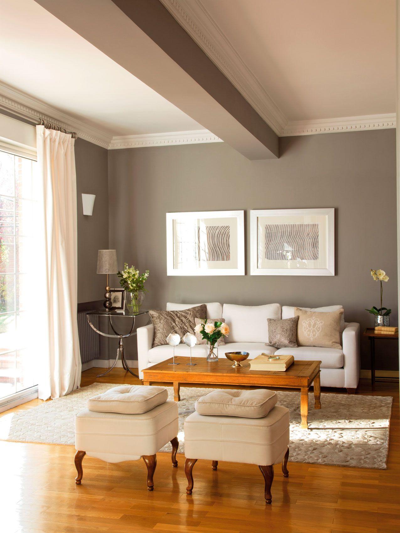 Di s al color casa gris decoraci n gris y habitaci n - Combinar colores paredes simulador ...