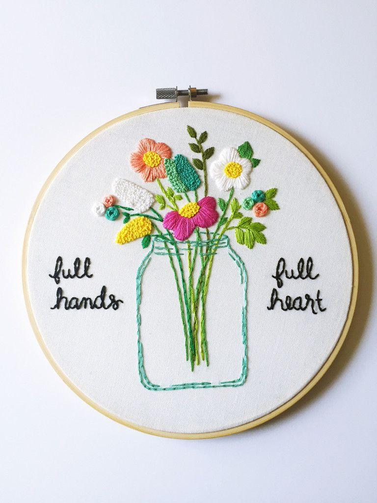 Full hands full heart made to order by kimart designs embroidery