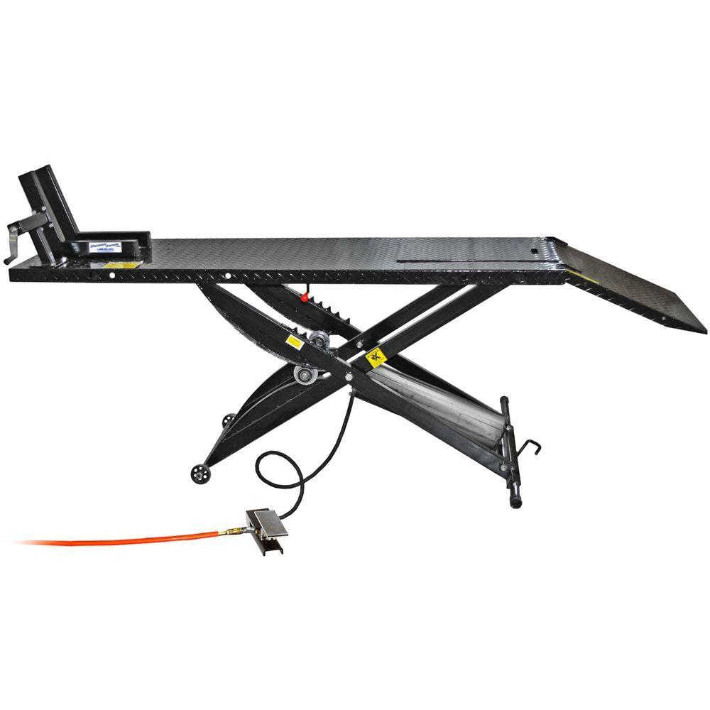 Black Widow Pneumatic Motorcycle Lift Table 1 000 Lbs Capacity Motorcycle Lift Table Bike Lift Lift Table