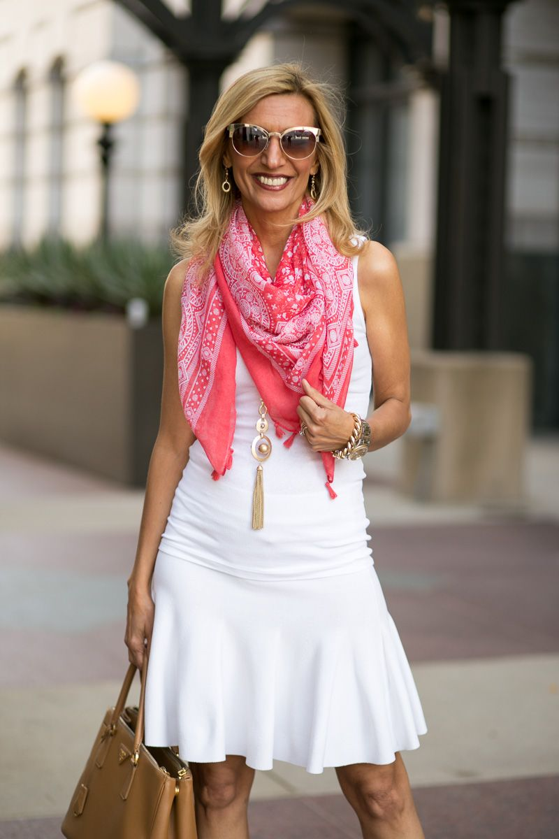Our Coral/ivory scarf and Matt Gold necklace and Earring set ARE PART OF OUR WEEKEND FLASH SALE USE CODE FS618 TO SAVE 15% PLUS FREE US SHIPPING www.jacketsociety.com