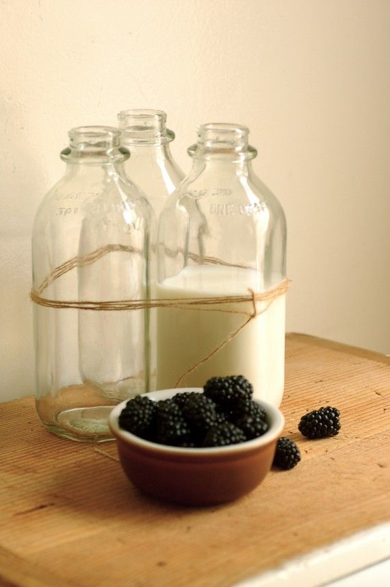milk and berries