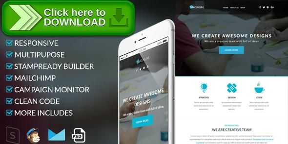 Free nulled Magnum - Responsive Email Template download