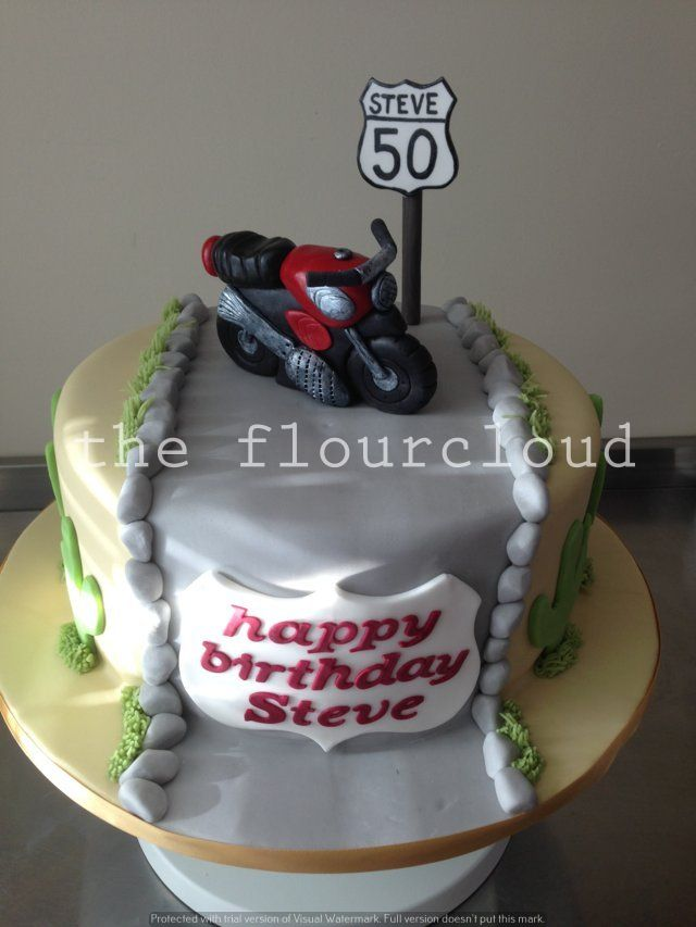 Motorbike birthday cake sugar craft and tutorials Pinterest