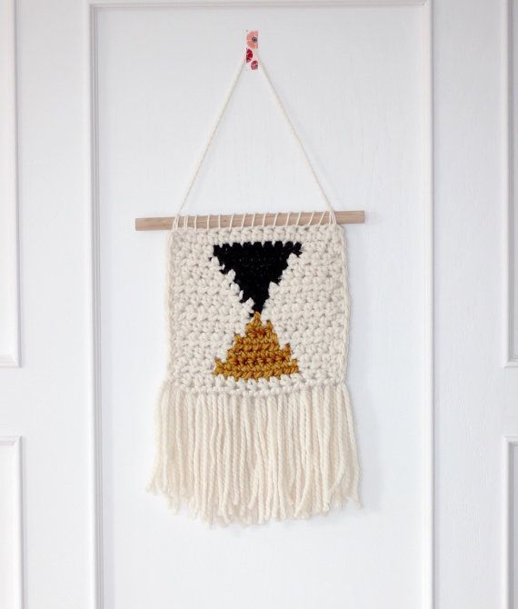 Best Triangle Wall Hanging Charcoal Mustard This Handmade 400 x 300