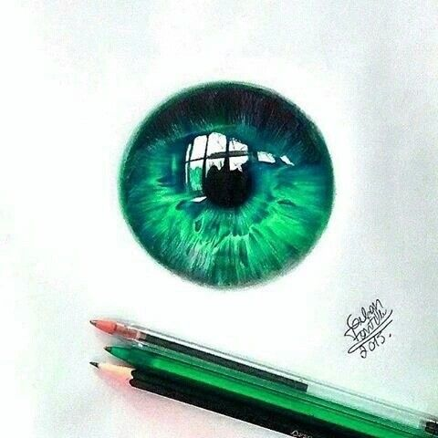 Green Eyes Eye Art Art Drawings Eye Drawing