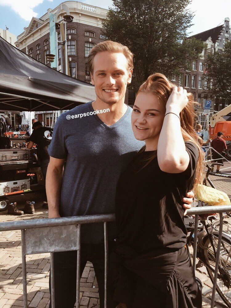 Sam Heughan And Fan In Amsterdam 2018 During Filming Of The Spy