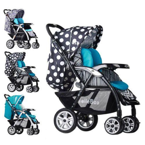 Hot Baby Toddler Stroller Travel System Pram Reversible Pushchair ...