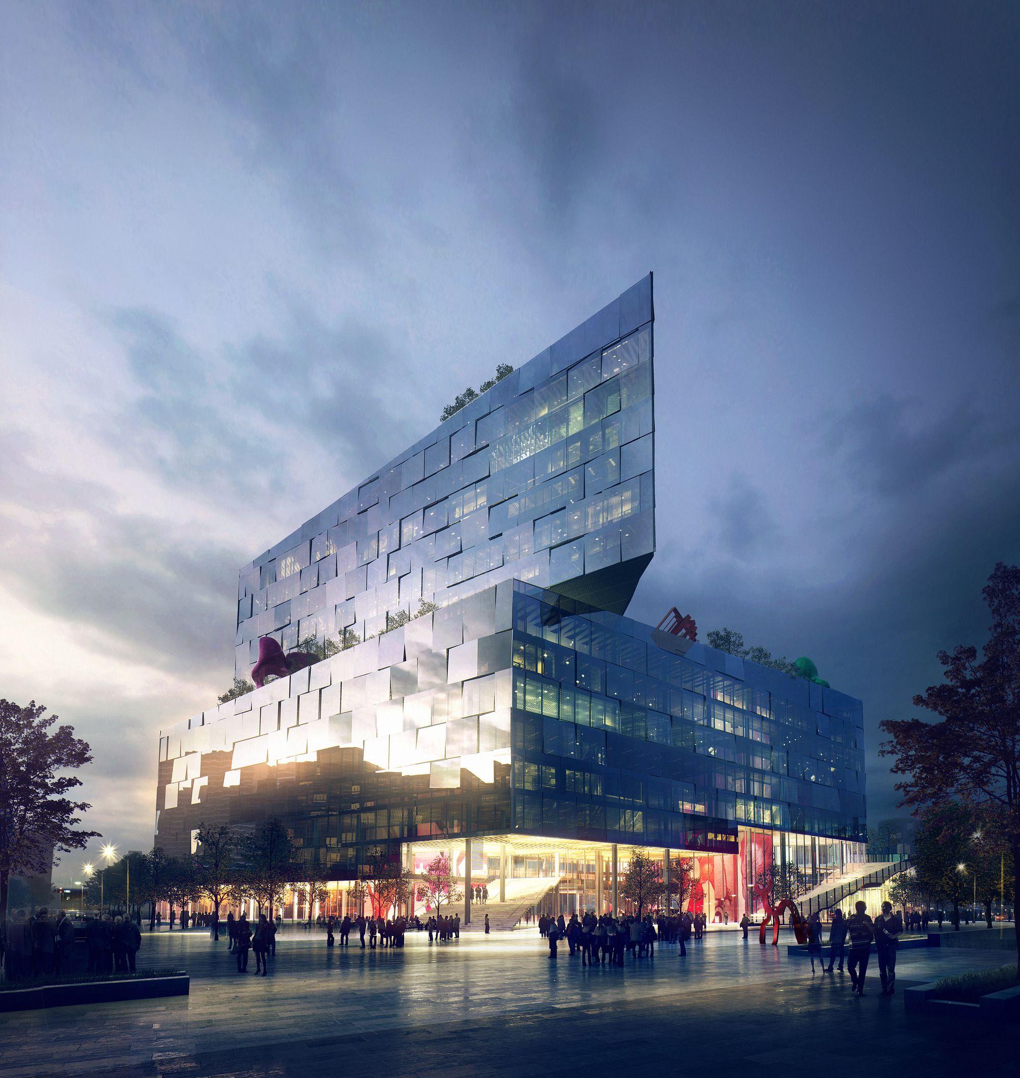 Iconic hq berlin germany 2014 by mir bergen norway ritrati di architettura - Architekturvisualisierung berlin ...