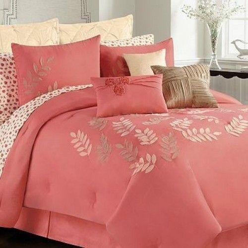 Pin By Caren Krutsinger On Coral Color Kohls Bedding Sets Coral Bedding Sets Floral Bedding