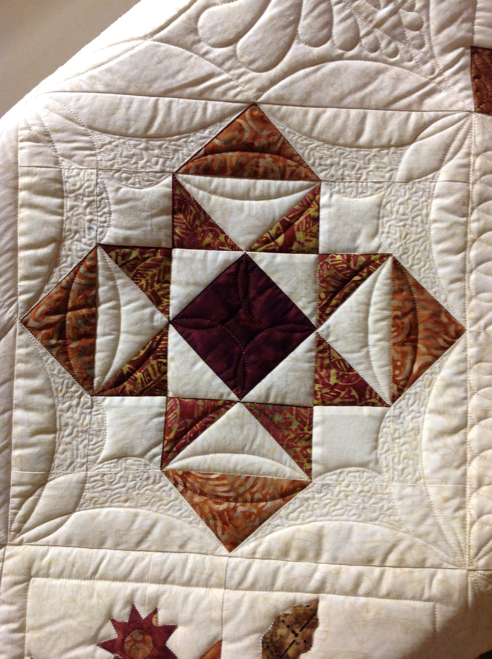 Hand Guided Quilting By Renee Sauve Of Log Cabin Quilter