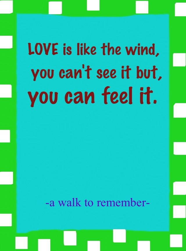a walk to remember love quotes - photo #20