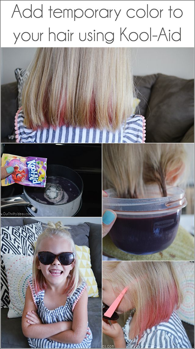 Temporarily color your child\'s (or your own) hair using Kool-Aid ...