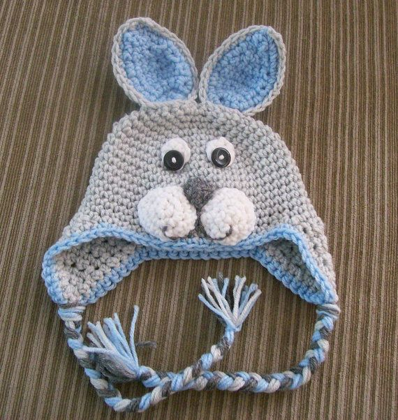 Blue Bunny Hat Preemie4T /cbbcreations by CBBCreations on Etsy ...