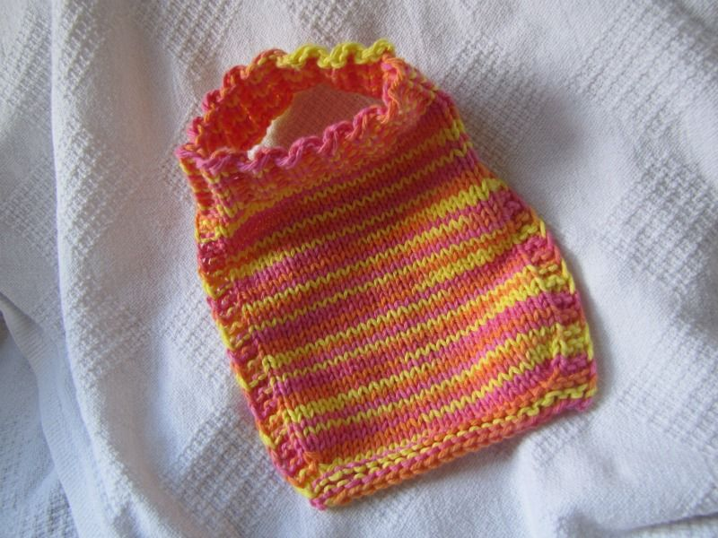 Easy Stay On Bib Cant Wait To Knit This For Someone Special