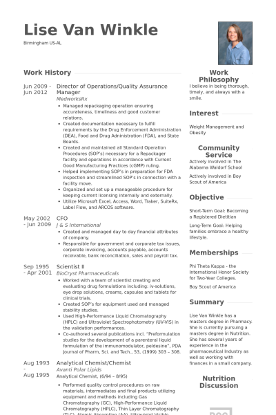 Cv Template Quality Manager Manager Resume Resume Examples