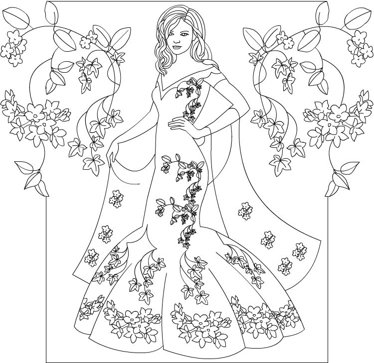 nicoles free coloring pages princess coloring page