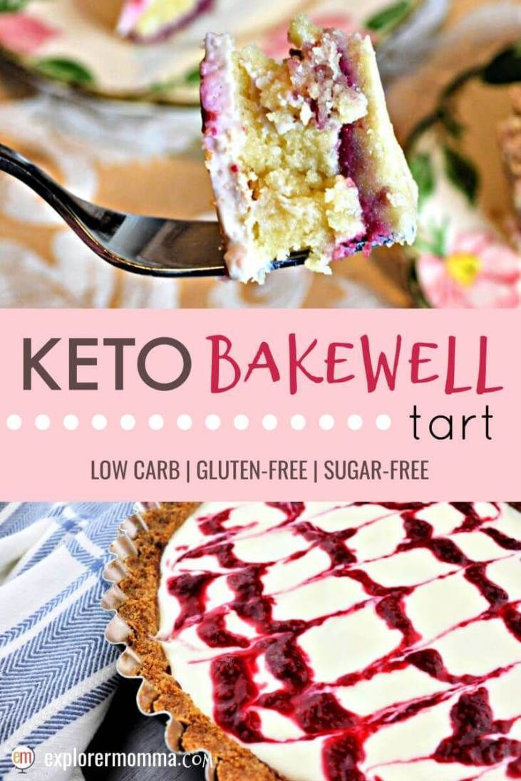 A Keto Bakewell tart is the perfect low carb dessert addition to any tea or picn A Keto Bakewell tart is the perfect low carb dessert addition to any tea or picn...