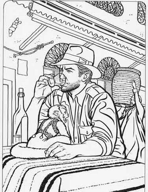 printable indiana jones coloring pages - photo#37