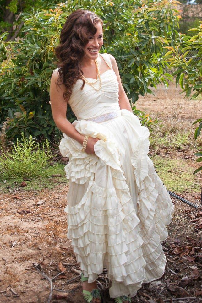 Replica Of Jackie Kennedy S Wedding Dress Handmade Wedding Dresses Boho Wedding Dress Ruffle Wedding Dress