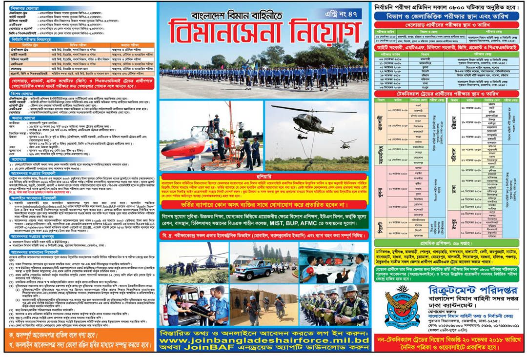 Bangladesh Air Force Job Circular 2020 Air force jobs