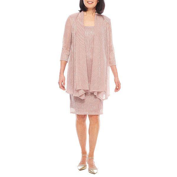 R&M Richards 3/4-Sleeve Crinkle Jacket Dress | Here comes the bride ...