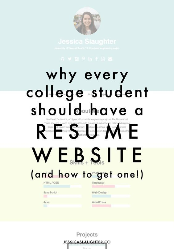 Why Every College Student Should Have A Resume Website College - resume builders for college students