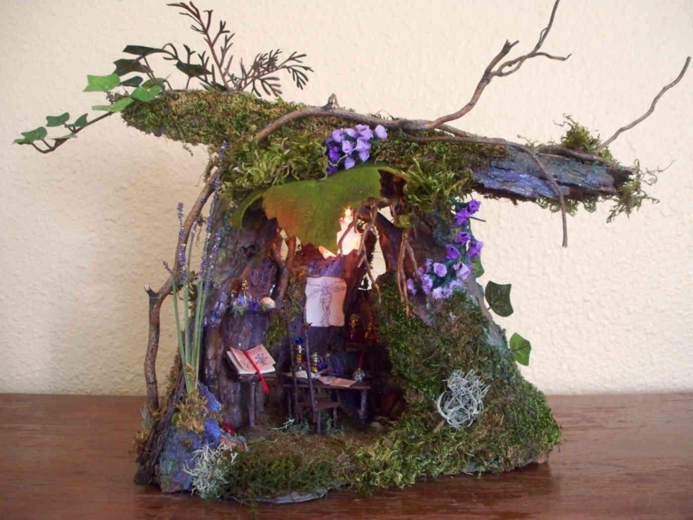 Fairy houses for sale the henge fairy lighted fairy for Fairy doors for sale