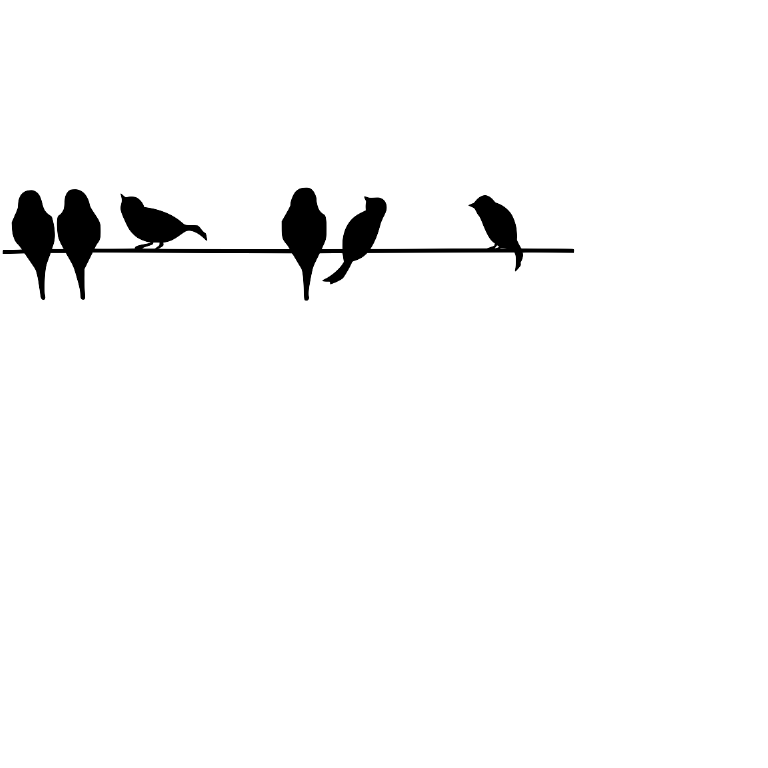 Dropbox - Birds On A Wire.svg | Vinyls | Pinterest