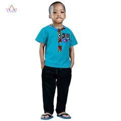 70ecfde5e9cb4 2018 African Clothing kids dashiki Traditional cotton shirt Matching ...