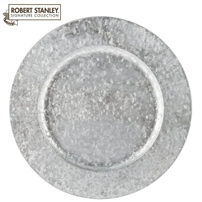 Galvanized Metal Plate Charger At Hobby Lobby 3 On Sale Charger Plates Rustic Charger Plates Rustic Metal