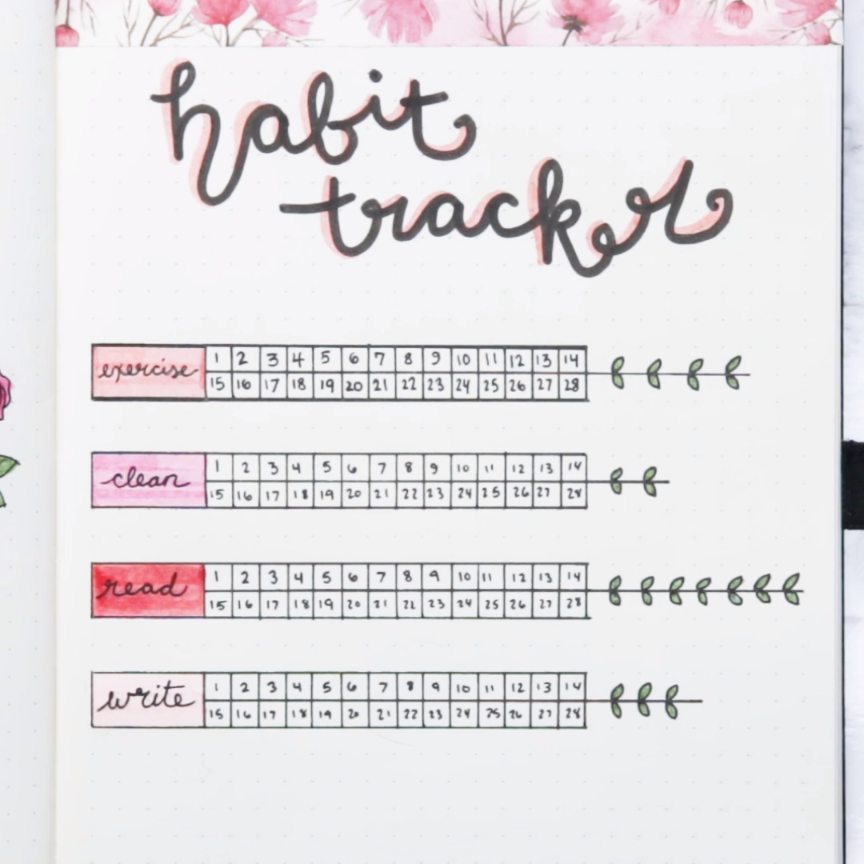 These Floral Bullet Journal Ideas Will Bring Out The Romantic In You #journal #romance #valentines #creative