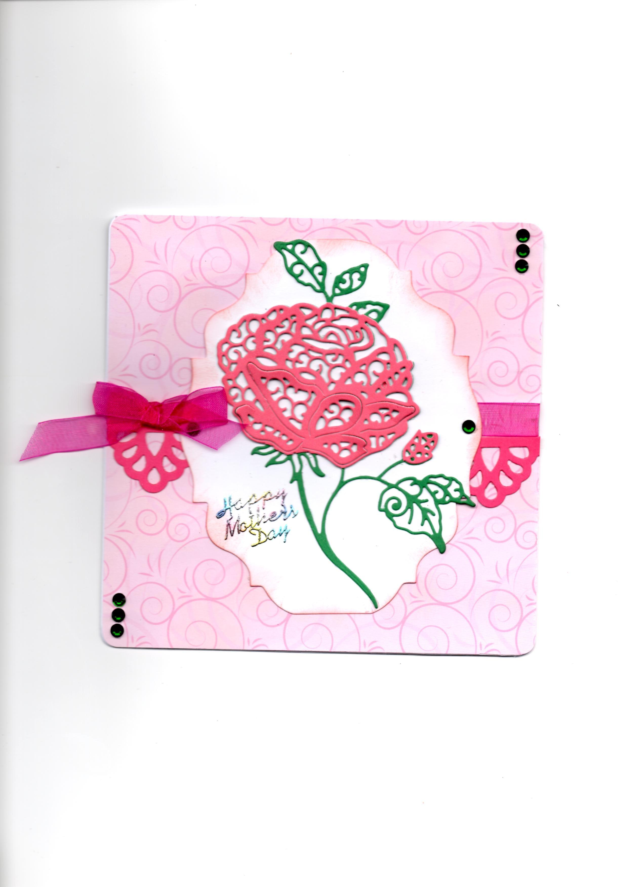 Tattered Lace Large english rose Tattered, Cut design