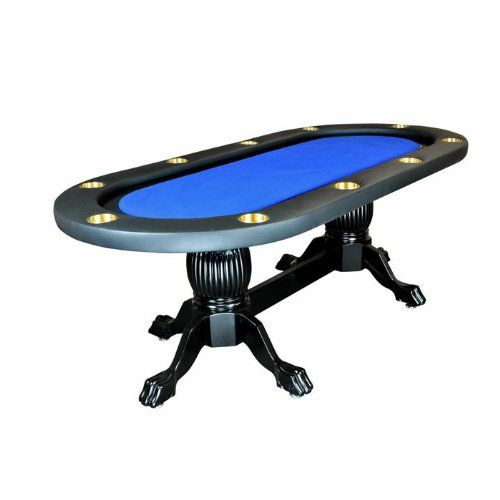 Elite 94 Sunken Playing Surface Poker Table In Blue New Ideas Items Poker Table Dining Table Setting Table