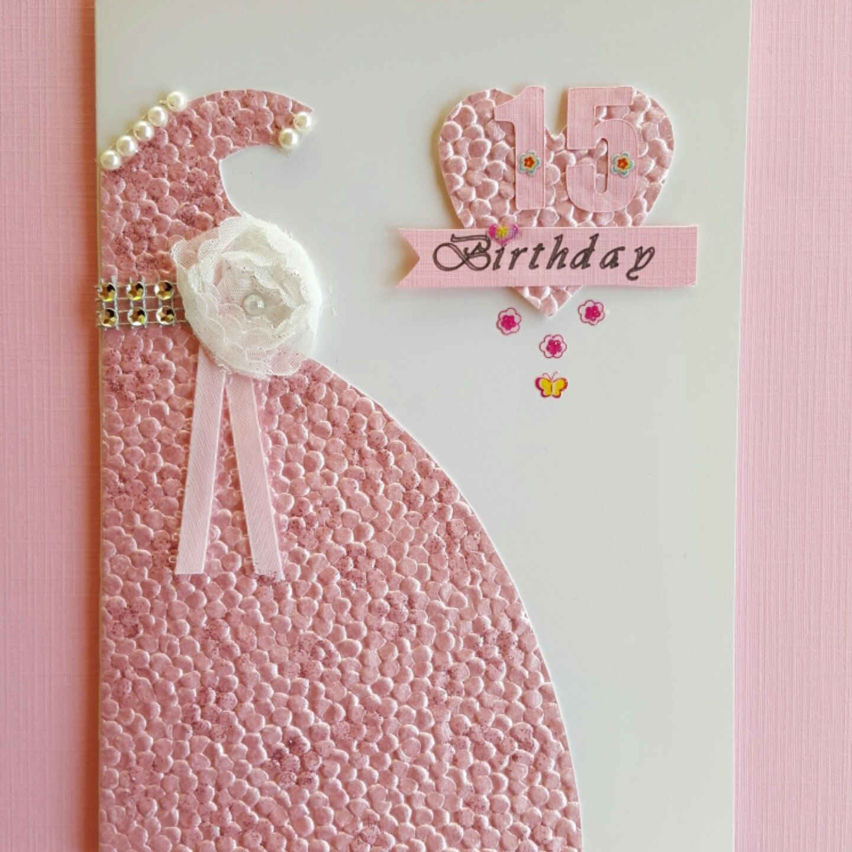 Quinceaeras model 4 15 birthday card handmade quinceaera dress quinceaeras model 4 15 birthday card handmade quinceaera dress card quinceaeras pink card 15 embellished card 15 greeting card kristyandbryce Choice Image